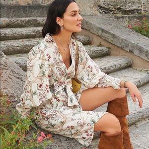 Johanna Ortiz x H&M linen orchid shirt dress NWT